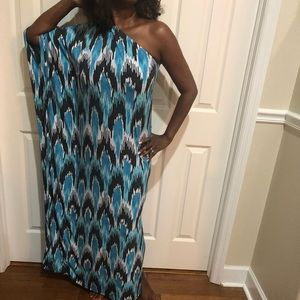 Micheal kors One Shoulder Maxi Dress